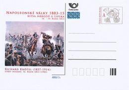 """Rep. Ceca / Cart. Postali (Pre2013/47) Battaglia Delle Nazioni A Lipsia Nel 1813 (1) Richard Knötel """"Combatte Gli Ussari - Interi Postali"""