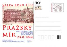 """Tchéquie / Cartes Post. (Pre2016/37) Guerre De 1866 - Paix De Prague (Hôtel """"à L'étoile Bleue"""") - Diligences"""