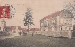 MOLAY              ECOLE ET MAIRIE  .   COLORISEE - France