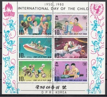 DPR Korea 1980 Sc. 1907/1912 Bambini Che Giocano Children Playing - International Day Of The Child Sheet Perf.  CTO - Corea Del Nord