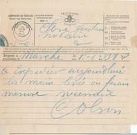 508/28 - 2 Formules De TELEGRAMME 1888/1893 Vers GEDINNE - Origines MARCHE Et BIEVRE - Télégraphes