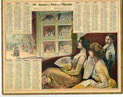 Almanach Postes Et Télégraphe 1914   (au Théatre) - Calendriers