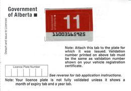 - CANADA - Alberta - License Plate Sticker 2011 - Plaque D'immatriculation - - Number Plates