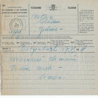 509/28 -  Formule De TELEGRAMME 1929 BUTGENBACH Vers GEDINNE - Cachet Télégraphique GEDINNE-POST. - Télégraphes