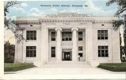 Cpa Des Usa , Savannah,public Library, Bibliothèque, Géorgie - Savannah