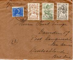 20 XII 1949  Brief Van Haarlem Naar Langwedel - Periode 1949-1980 (Juliana)