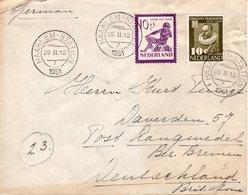 26 II 1951  Brief Van Haarlem Naar Langwedel - Periode 1949-1980 (Juliana)