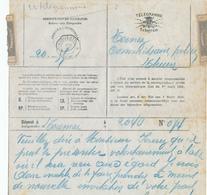 510/28 -  Formule De TELEGRAMME TOURNAI Vers THUIN - Cachet Télégraphique THUIN(OUEST) - Télégraphes