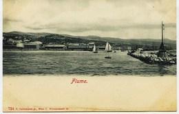 6804 - CROATIE -  RIJEKA / FIUME :  Entrée  Du  Port        -   Vers  1900 - Croatie