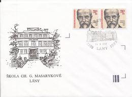 J0866 - Tschechoslowakei (1992) Brief (Sonderstempel) Lany: 600 Jahre Dorf (Stempel: Tomas Garrigue Masaryk) - Tschechoslowakei/CSSR