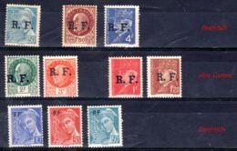 Übersdrucke 1944; R.F. Diverse Ausgaben Gem. Scan, Los 50961 - Liberation