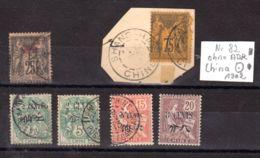 Französische Post In China, Diverse Ausgaben, 1 X Mi-Nr. 82, Ohne ADR Auf Fragment Shanghai 1902, Los 50963 - China (1894-1922)