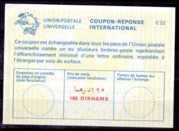 LIBYE Coupon-Réponse International, Neuf, 195 Dirhams, Los 50972 - Libye