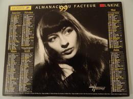 Almanach Du Facteur 1999  Recto   Juliette Greco 1950    Verso   Georges  Brassens  1957 - Calendriers