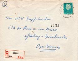 3 III 1954 Aangetekende Brief  Van MELICK Naar Apeldoorn - Periode 1949-1980 (Juliana)