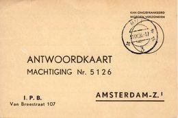 11 IX 1956 Antwoordkaart Van MILL Naar Amsterdam - Periode 1949-1980 (Juliana)