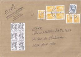 MARIANNE DE CHIAPPA N°4764x6 + DIVERS  SUR LETTRE DE 2014 - 2013-... Marianne De Ciappa-Kawena