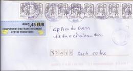 MARIANNE DE CHIAPPA N°4764x8 + DIVERS  SUR LETTRE DE 2018 - 2013-... Marianne De Ciappa-Kawena