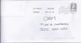 MARIANNE DE CHIAPPA N°4766  SUR LETTRE DE 2013 - 2013-... Marianne De Ciappa-Kawena