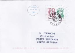 MARIANNE DE CHIAPPA  N°4767/4774 PAIRE  SUR LETTRE DE 2013 POUR POSTE RESTANTE - 2013-... Marianne De Ciappa-Kawena