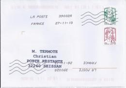 MARIANNE DE CHIAPPA  N°4767a/4774a PAIRE  SUR LETTRE DE 2013 POUR POSTE RESTANTE - 2013-... Marianne De Ciappa-Kawena