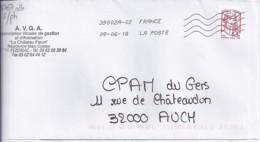 MARIANNE DE CHIAPPA  N°4767adh.  SUR LETTRE DE 2013   //sans Phosphore// - 2013-... Marianne De Ciappa-Kawena