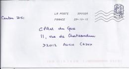 MARIANNE DE CHIAPPA  N°4768adh.  SUR LETTRE DE 2013 - 2013-... Marianne De Ciappa-Kawena