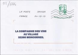 MARIANNE DE CHIAPPA  N°4774adh. SUR LETTRE  DE 2013 - 2013-... Marianne De Ciappa-Kawena