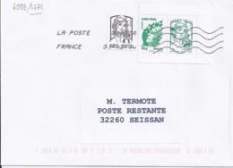 MARIANNE DE CHIAPPA  N°4774 Paire Lettre Verte   SUR LETTRE  DE 2014 Pour Poste Restante - 2013-... Marianne De Ciappa-Kawena