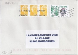 MARIANNE DE CHIAPPA N° 4809 SUR LETTRE DU 2.1.14 / 1° JOUR TARIF - 2013-... Marianne De Ciappa-Kawena