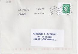 MARIANNE DE CHIAPPA N° 4908 SUR LETTRE DE 2014 - 2013-... Marianne De Ciappa-Kawena
