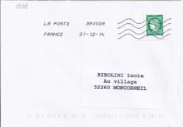 MARIANNE DE CHIAPPA N° 4908 SUR LETTRE DU 31.12.14/DERNIER JOUR TARIF - 2013-... Marianne De Ciappa-Kawena