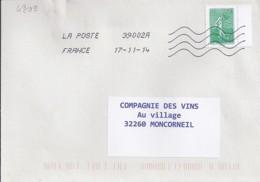 MARIANNE DE CHIAPPA N° 4909 SUR LETTRE DE 2014 - 2013-... Marianne De Ciappa-Kawena