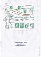 MARIANNE DE CHIAPPA N°BLOC 4908  SUR LETTRE DU 31.12.14 /DERNIER JOUR TARIF - 2013-... Marianne De Ciappa-Kawena