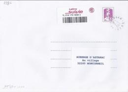 MARIANNE DE CHIAPPA N°ADH.1177A  SUR LETTRE SUIVI DU 2.1.15 / 1° JOUR LETTRE SUIVIE - 2013-... Marianne De Ciappa-Kawena