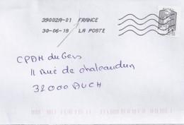 MARIANNE DE CHIAPPA N°5014adh  SUR LETTRE DE 2018 - 2013-... Marianne De Ciappa-Kawena