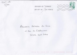 MARIANNE DE CHIAPPA N°5015adh   SUR LETTRE DE 2018  //SANS PHOSPHORE// - 2013-... Marianne De Ciappa-Kawena