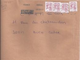 MARIANNE DE CHIAPPA N°5018adh.   X 4 SUR LETTRE DE 2017 - 2013-... Marianne De Ciappa-Kawena