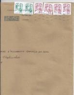 MARIANNE DE CHIAPPA N°5018 X 4 + DIVERS SUR LETTRE DE 2018 - 2013-... Marianne De Ciappa-Kawena