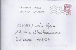 MARIANNE DE CHIAPPA N°5018 SUR LETTRE DE 2017/18  //SANS PHOSPHORE// - 2013-... Marianne De Ciappa-Kawena
