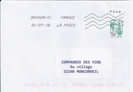 MARIANNE DE CHIAPPA N°5235 SUR LETTRE DE 2018 - 2013-... Marianne De Ciappa-Kawena