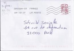 MARIANNE DE CHIAPPA N°5018adh. SUR LETTRE DE 2017  //SANS PHOSPHORE// - 2013-... Marianne De Ciappa-Kawena
