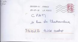 MARIANNE DE CHIAPPA N°5016adh  SUR LETTRE DE 2018  //SANS PHOSPHORE// - 2013-... Marianne De Ciappa-Kawena