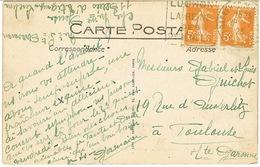 DAGUIN DE BAGNERES DE LUCHON UTILISATION PRECOCE EN JUILLET 1923 - Marcophilie (Lettres)