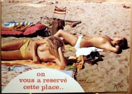 PIN UP TOPLESS SEINS NUS HUMOUR ON VOUS A RESERVE CETTE PLACE LA CORSE INOUBLIABLE - Pin-Ups