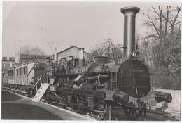 "NANCY (54) TRAIN. PHOTO. LOCOMOTIVE "" CRAMPTON "" NANCY- CROIX De BOURGOGNE. - Trains"