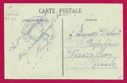 Correspondance Sur Carte Postale Datée De 1919 - Aviation Militaire - Tampon Escadrille BF 257 - Marcophilie (Lettres)