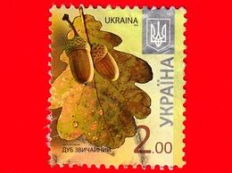 UCRAINA  - Usato - 2012 - Piante - Flora - Farnia - Quercus Robur - Ottava Edizione - 2.00 - Ucraina