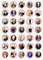Alfred Hitchcock Movie Film Director Fan ART BADGE BUTTON PIN SET (1inch/25mm Diameter) 35 DIFF - Films
