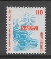 TIMBRE NEUF D'ALLEMAGNE FEDERALE - LOGO DE L'EXPOSITION DE HANOVRE 2000 N° Y&T 1841 - 2000 – Hanovre (Allemagne)